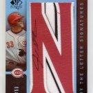 Josh Hamilton RC #/50 2007 SP Authentic By the Letter Signatures #BL-29 Autograph Rangers Angels