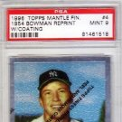 Mickey Mantle 1996 Topps Mantle Finest 1954 Bowman Reprints #4 PSA 9 Mint Yankees