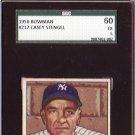Casey Stengel 1950 Bowman #217 New York Yankees, HOF SGC 60 EX