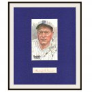 Burleigh Grimes Autographed Matted Display HOF Pre-certified by PSA/DNA