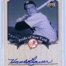 Hank Bauer 2003 Upper Deck Yankees Signature Series Pride of New York Autographs #PN-HB
