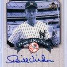 Bill Virdon 2003 Upper Deck Yankees Signature Series Pride of New York Autographs #PN-BV