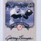 Jerry Lumpe 2003 Upper Deck Yankees Signature Series Pride of New York Autographs #PN-JL