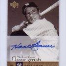 Hank Bauer  2004 Upper Deck Yankees Classics Classic Scripts #AU-28 Autographed