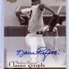 Dave Righetti 2004 Upper Deck Yankees Classics Classic Scripts #AU-10 Autographed