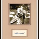 Stan Coveleski Autographed Matted Display HOF Pre-certified by PSA/DNA Indians
