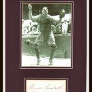 Ernie Lombardi Certified Autographed Matted Display HOF PSA/DNA Full Authentication Letter 1938 MVP