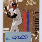 Gary Sheffield #/5 Gold Auto 2004 Donruss Leather & Lumber Autographs #98 Yankees