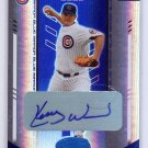 Kerry Wood Auto #/25 2004 Leaf Certified Materials Mirror Blue Autograph #117 Cubs