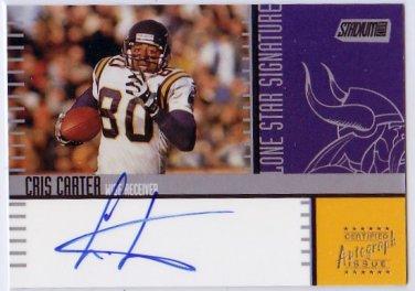Cris Carter HOF Auto 2000 Stadium Club Lone Star Signatures Autograph #LS7 Vikings HOF