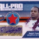 Dwight Freeney Auto 2004 Topps Pristine All-Pro Endorsements Pro Bowl Jersey Autograph Colts,