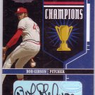Bob Gibson HOF Auto #/50 2004 Playoff Honors Champions Autograph Cardinals HOF