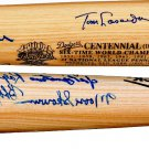 Brooklyn Dodgers HOF Autographed Centennial Bat #/500 Duke Snider Lasorda Branca Thompson