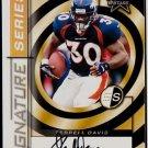 Terrell Davis 1999 Rookies & Stars Signature Series #SS1 Autograph /150 Broncos