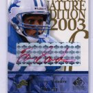 Barry Sanders HOF Red Ink Auto 2003 SP Signature Gold Edition Autograph #BA Lions /100