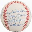 Dodgers Greats Autographed Official NL Baseball Branca, Erskine, Snider Wes Parker