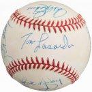 Garvey Cey Russell Lopes Lasorda Branca Erskine Roe Labine Dodgers Signed Official Baseball