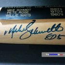 Willie Mays, Pete Rose, Mike Schmidt Signed MVP Bat Autographed w/ Inscriptions HOF