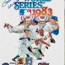 Pete Rose Signed 1983 World Series Program Charlie Hustle Inscription Phillies, Reds Autographed