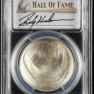 2014 Rickey Henderson HOF Signed Silver Dollar $1 Baseball PCGS MS70 Yankees, A's