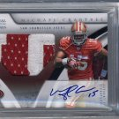 Michael Crabtree RC Auto 2009 National Treasures Autographed Patch #122 Raiders 49ers  BGS