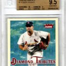 Albert Pujols 2005 Fleer Tradition Diamond Tributes #1 of 25 Angels. Cardinals BGS 9.5 Gem Mint