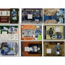 Marvin Harrison Lot of 9 Game-Used Memorabilia Cards HOF Colts Premium Brands, Serial #
