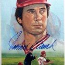 Johnny Bench Signed Dick Perez Celebration 1989 Postcard HOF Reds Autograph
