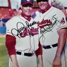 Roberto Alomar (HOF)  & Sandy Alomar Jr. Signed Autographed 8 x 10 MLB photo Indians Blue Jays