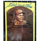 Eddie Mathews HOF Autographed Signed Yellow Hall of Fame Plaque Postcard Braves