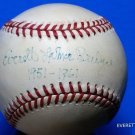 Brooklyn Dodgers Rocky Bridges Signed Autographed Official NL Baseball w/Inscription