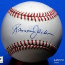 Brooklyn Dodgers Ransom Jackson Signed Autographed Official NL Baseball (White)