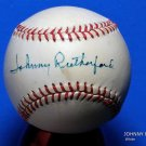 Brooklyn Dodgers Johnny Rutherford Signed Autographed Official NL Baseball (White)