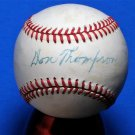 Brooklyn Dodgers Don Thompson Signed Autographed Official NL Baseball (White) Brooklyn HOF