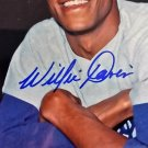 Willie Davis Signed Autographed 8 x 10 Color Photograph Dodgers