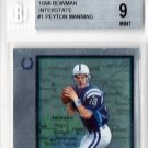 Peyton Manning RC 1998 Bowman Interstate #1 RC Broncos, Colts BGS Mint 9
