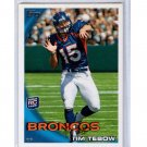 Tim Tebow RC (2) 2010 Topps #440d Tough Parallel Rookie Card Broncos, Jets, Mets + Bonus
