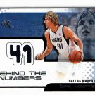 Dirk Nowitzki 2001-02 Fleer EX Behind the Numbers  Game-worn Jersey Mavericks