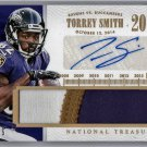 Torrey Smith #/15 Auto 2014 National Treasures Timeline Autograph 3-Color Patch #TNM-TS 49ers