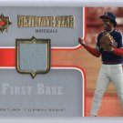 Rod Carew 2007 Ultimate Collection Ultimate Star Materials Jersey #SM-RO  Twins, Angels  HOF