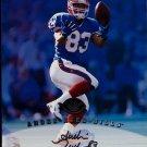 Andre Reed HOF Auto 1997 Leaf Authentic Signatures Autograph 8x10  Bills
