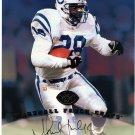 Marshall Faulk HOF Auto 1997 Leaf Authentic Signatures Autograph 8x10 Colts, Rams HOF