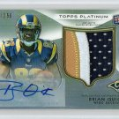 Brian Quick RC Auto 2012 Topps Platinum Autographed Rookie Refractor 3-Colored Patch #125 Rams #/250