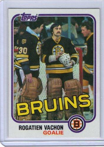 Rogatien Vachon 1981-82 Topps #74 Canadiens, Bruins, Kings HOF Rogie