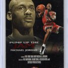 Michael Jordan 1998-99 NBA Hoops Pump Up the Jam #5-PJ Bulls HOF Insert