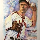 "Pete Gray Signed Autographed 11x14"" Lithograph  1st One Armed Player James Spence coa"