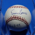 Ernie Banks Autographed Single Signed Official NL Baseball (Coleman) w/ Inscription HOF Cubs PSA/DNA