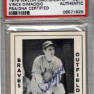 Vince DiMaggio Autograph Signed 1979 Wallin Diamond Greats #211 PSA/DNA Certified Authentic