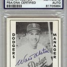 Walt Alston HOF Auto Signed 1979 Wallin Diamond Greats #95 PSA/DNA Certified Authentic Dodgers