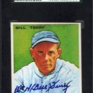 Bill Terry Signed 1933 Goudey Reprint Card Authentic Autograph JSA Certified Giants HOF